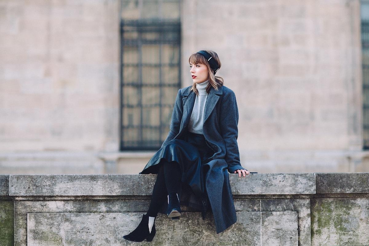 blog mode paris look nuance de gris