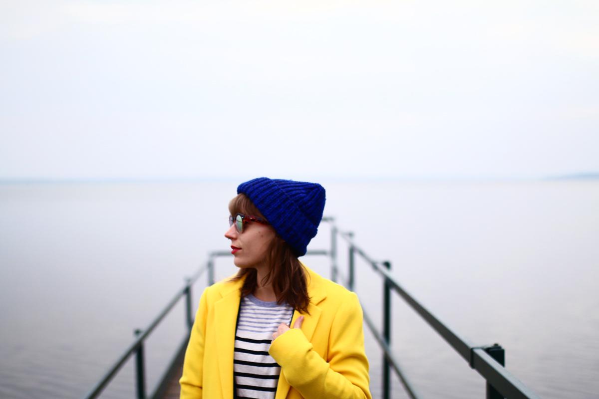 look manteau jaune
