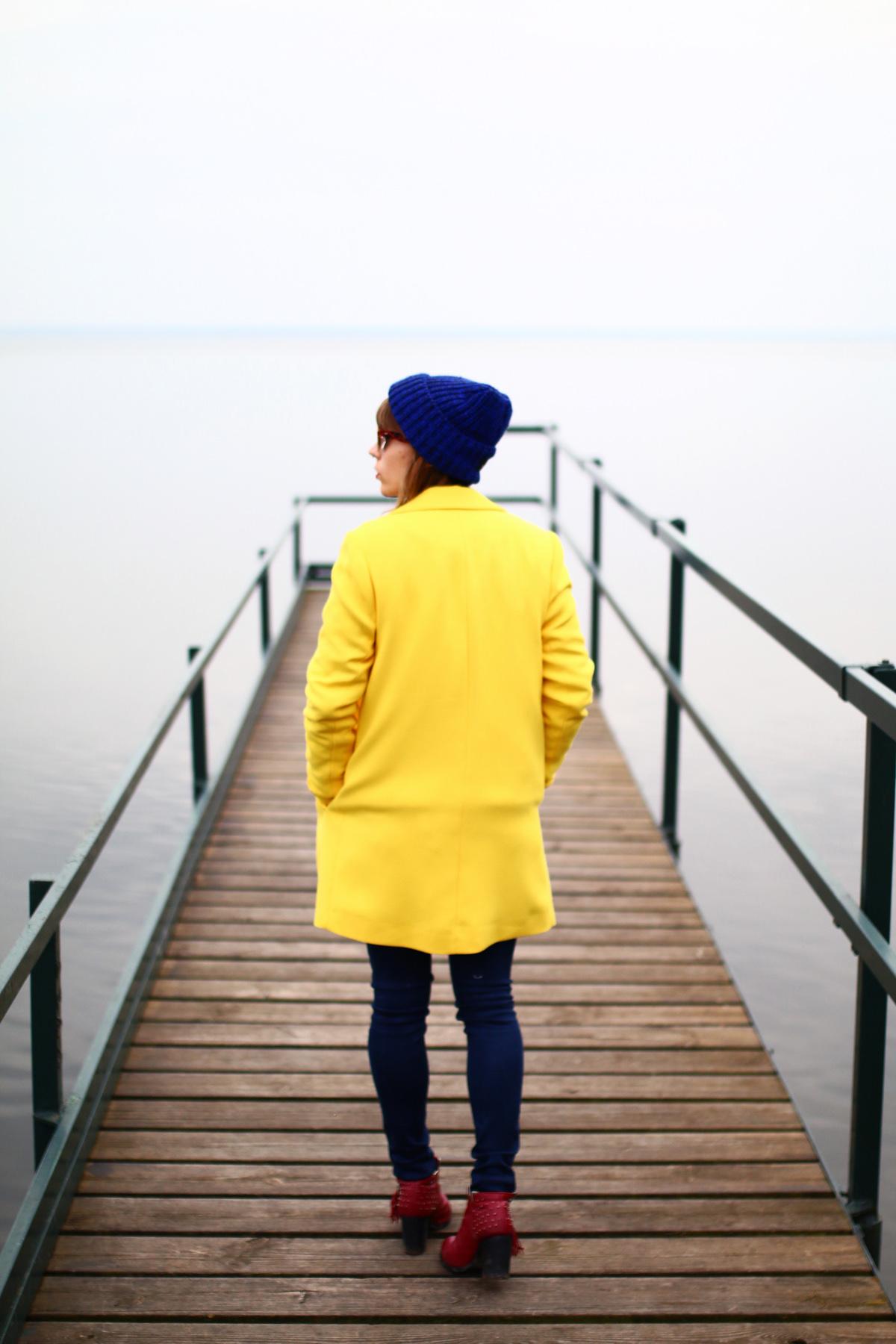 look marin rayures et jaune