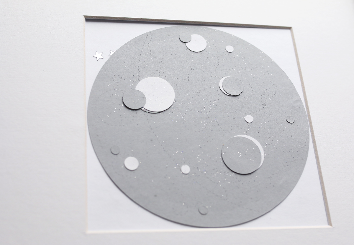 lune régressive en papier