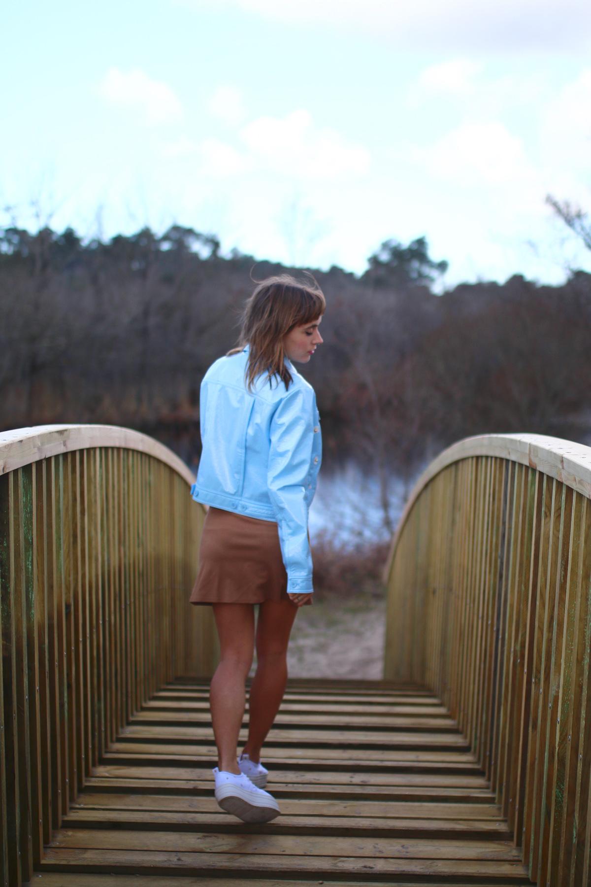 Blog mode jupe trapèze camel