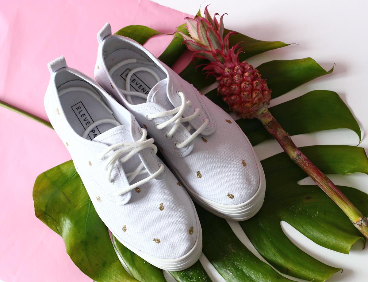 DIY chaussure ananas résultat