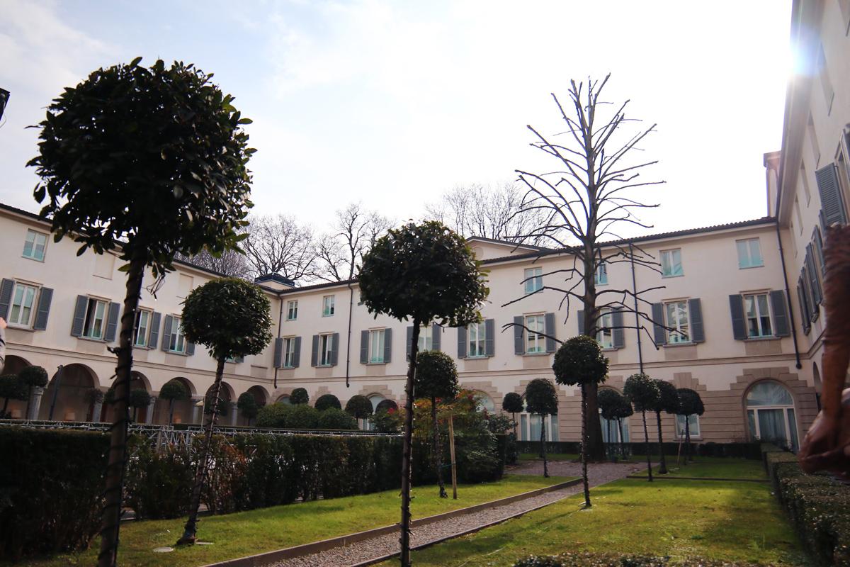 cour d'un hotel particulier milan