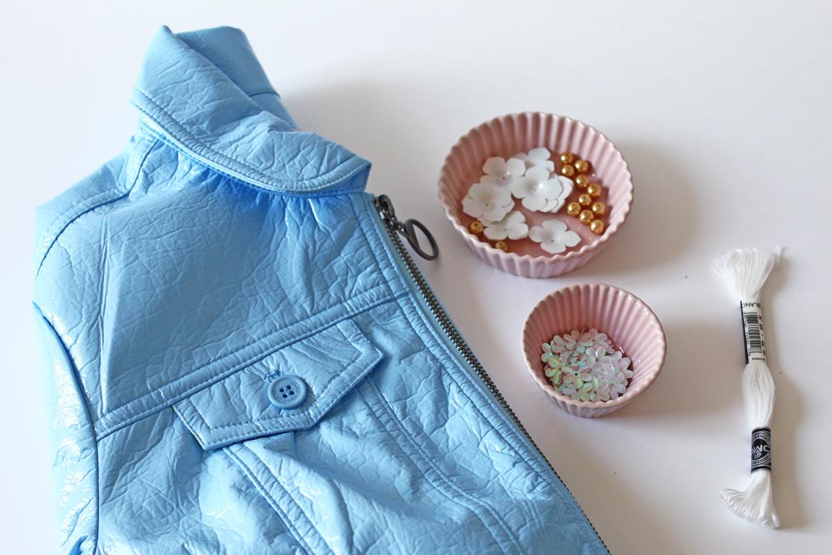1 DIY veste fleurie Matériel