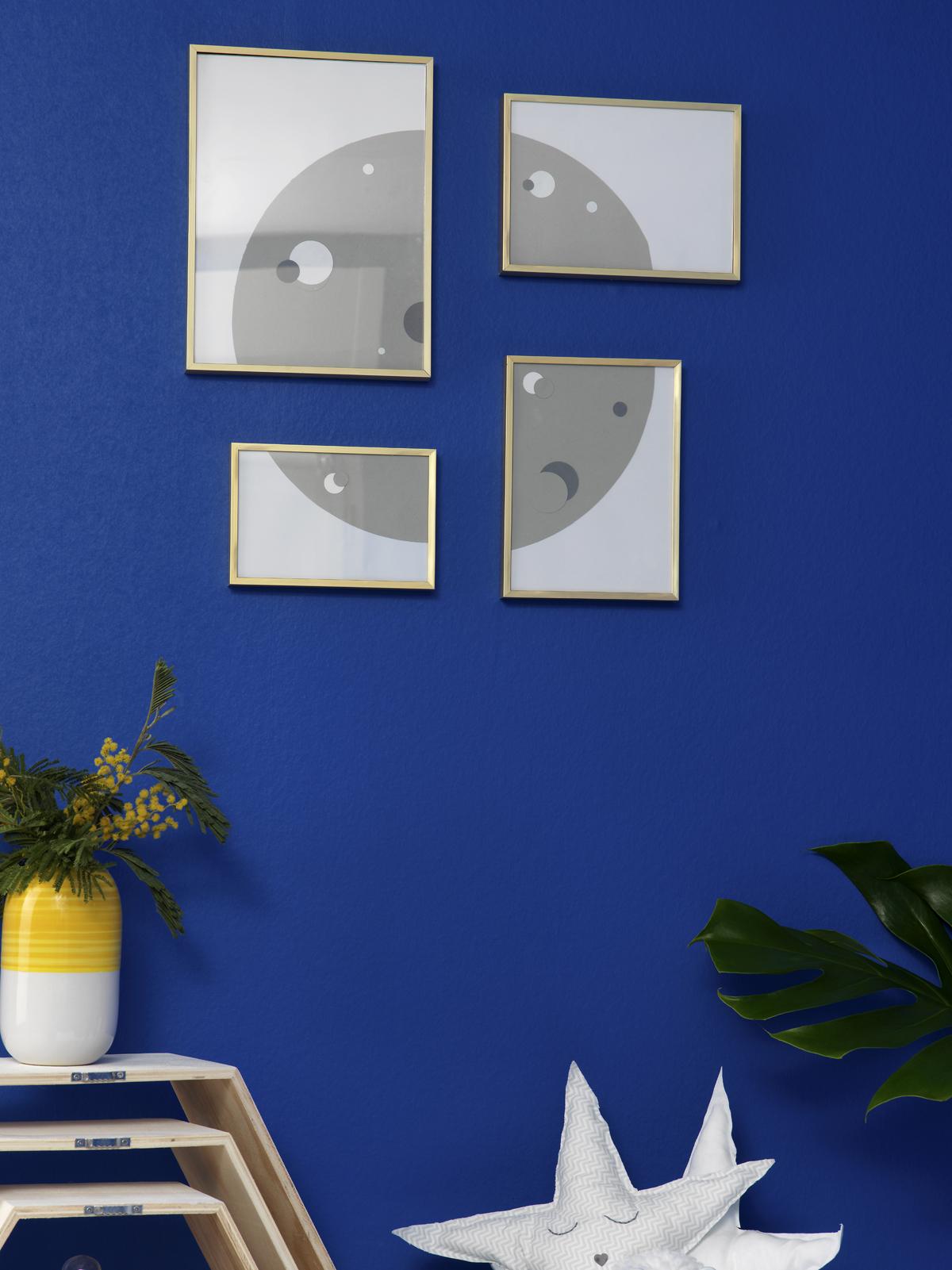 DIY deco chambre enfant cadre lune en papier