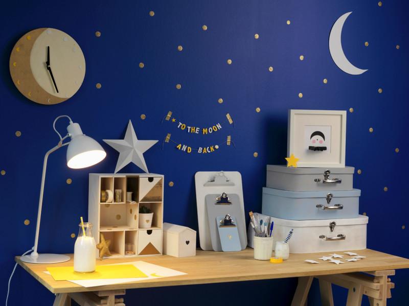 DIY deco chambre enfant theme lunaire