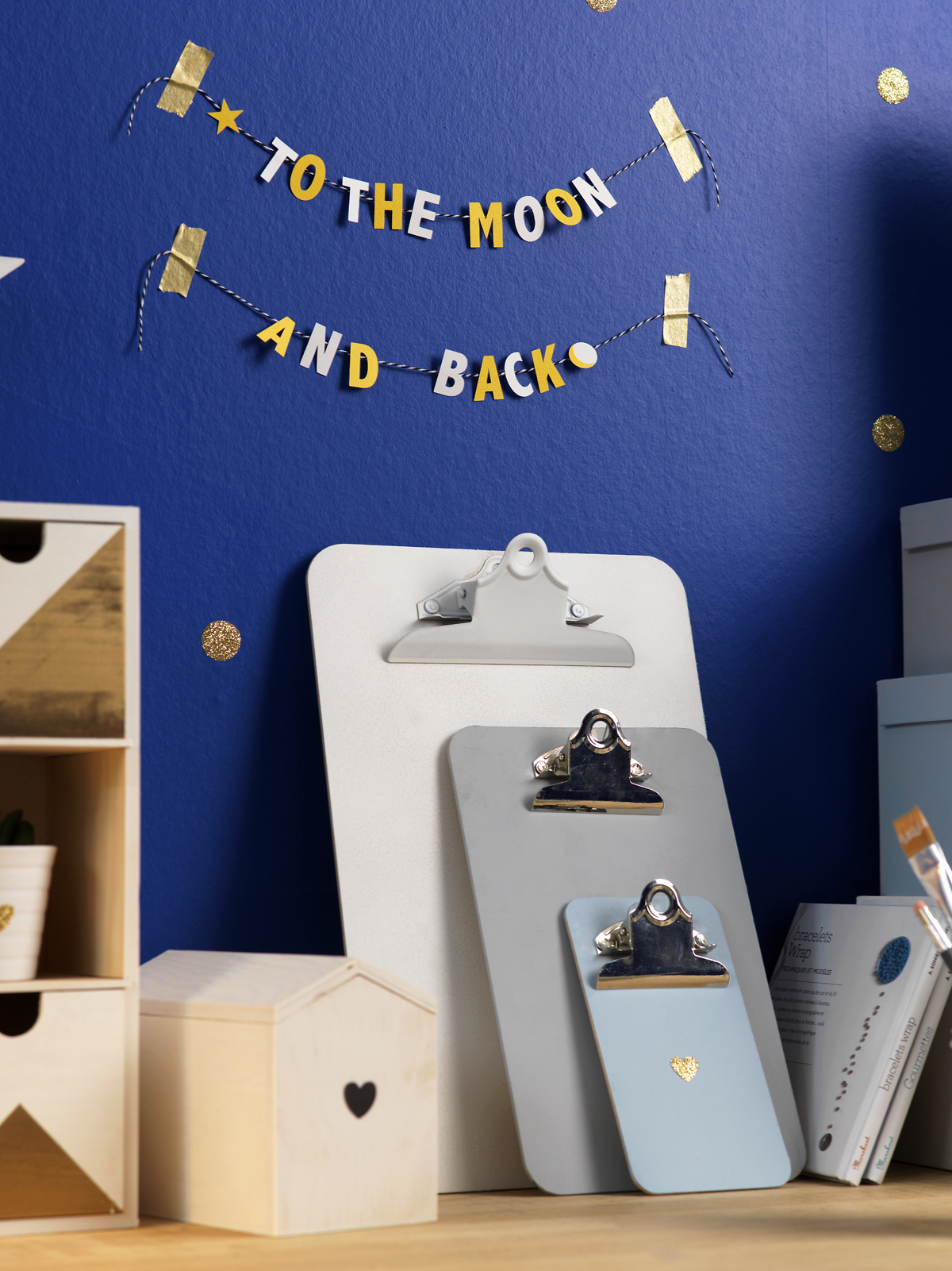 DIY deco chambre enfant to the moon and back