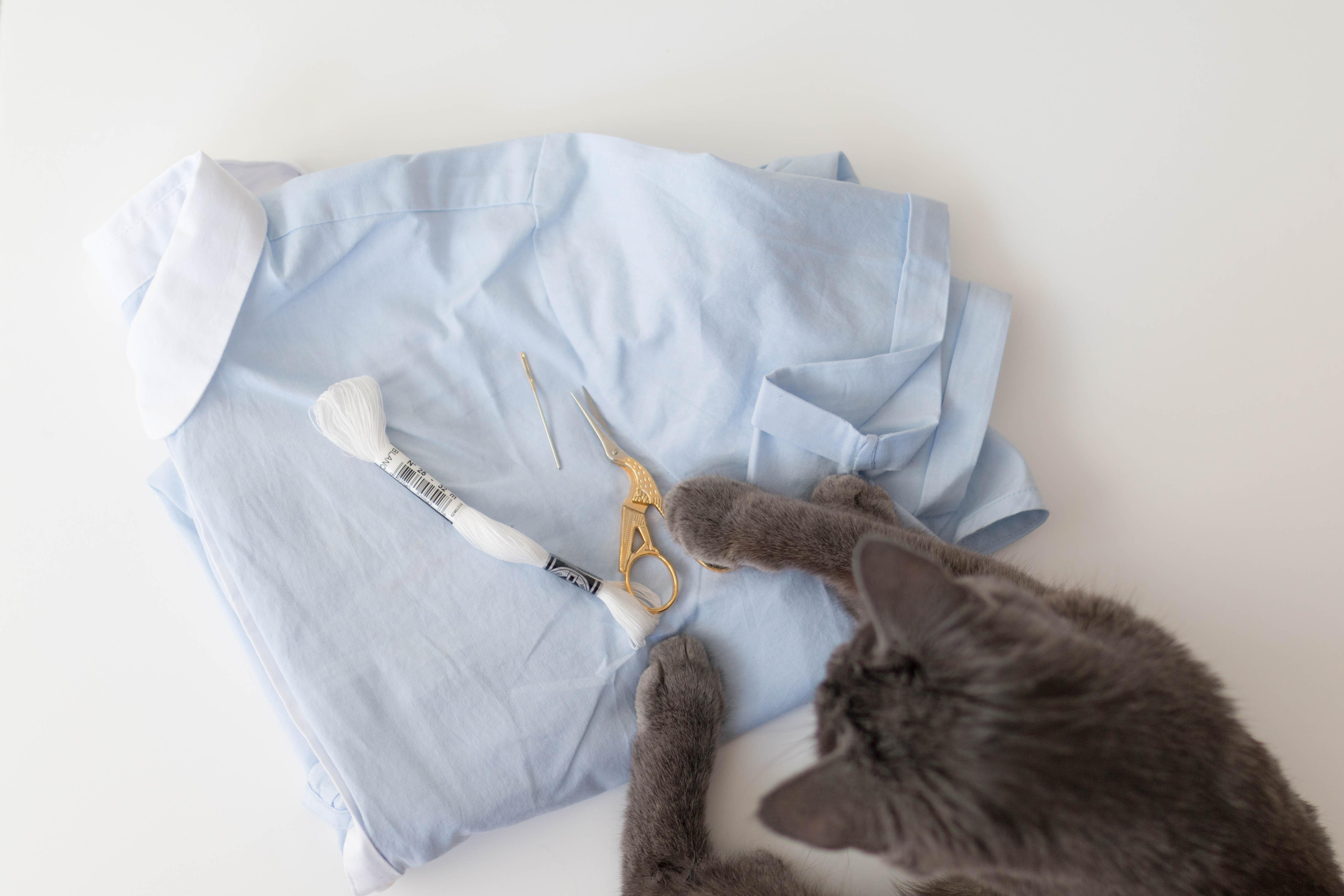 DIY chemise brodée matériel 2