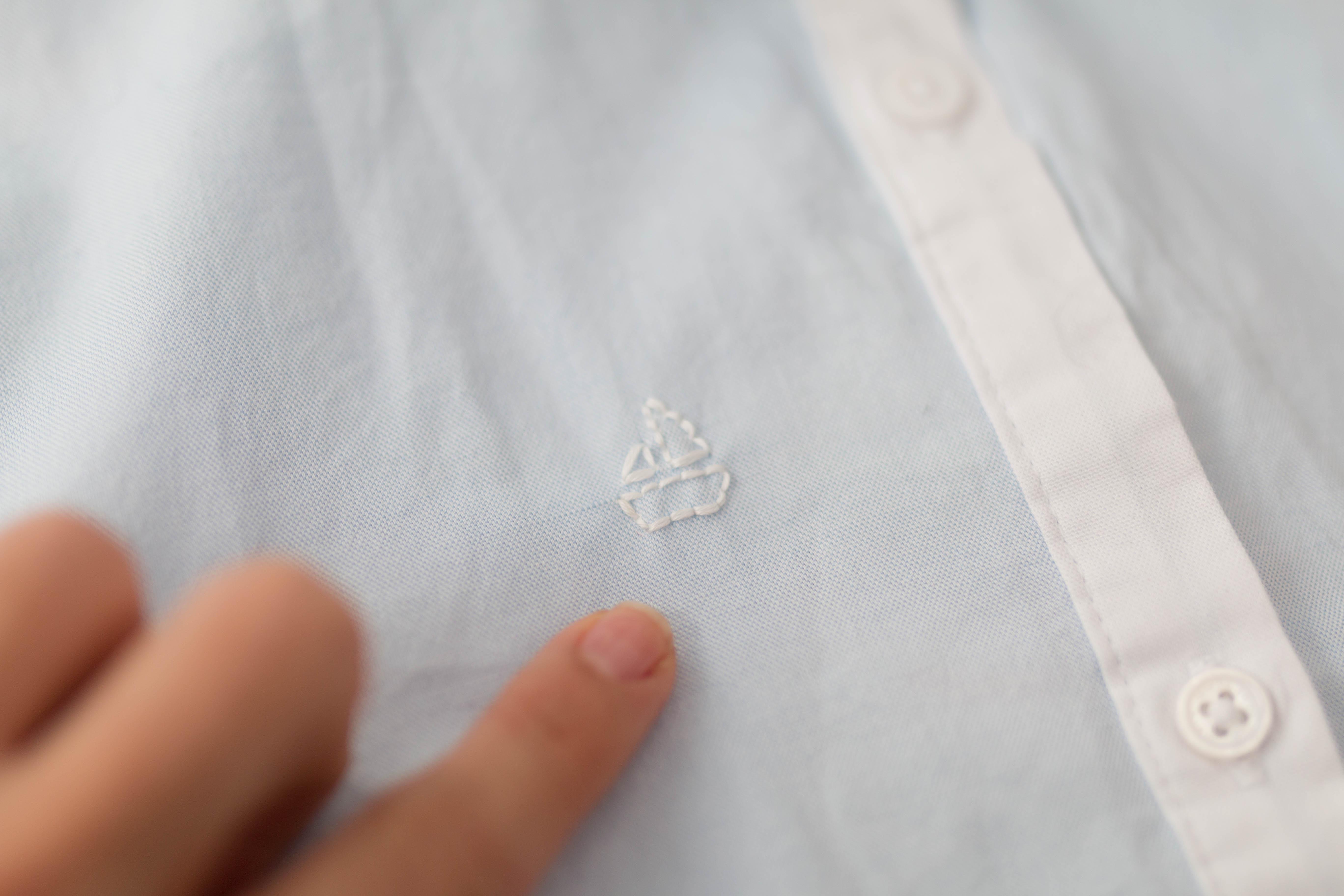 DIY chemise brodée petit bateau