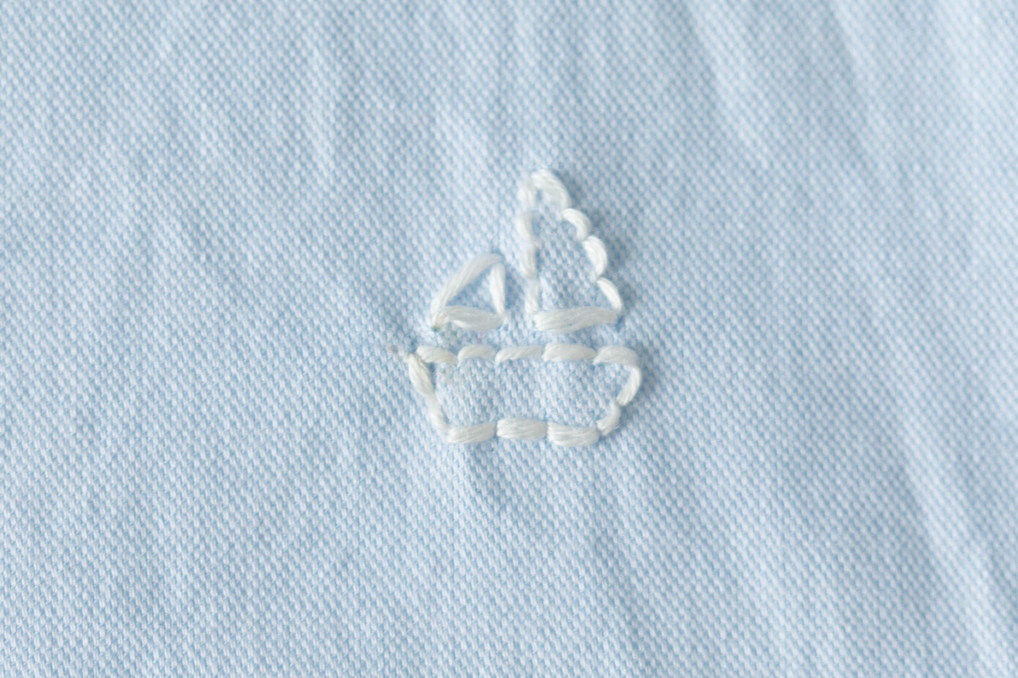 DIY chemise petit bateau brodé 10