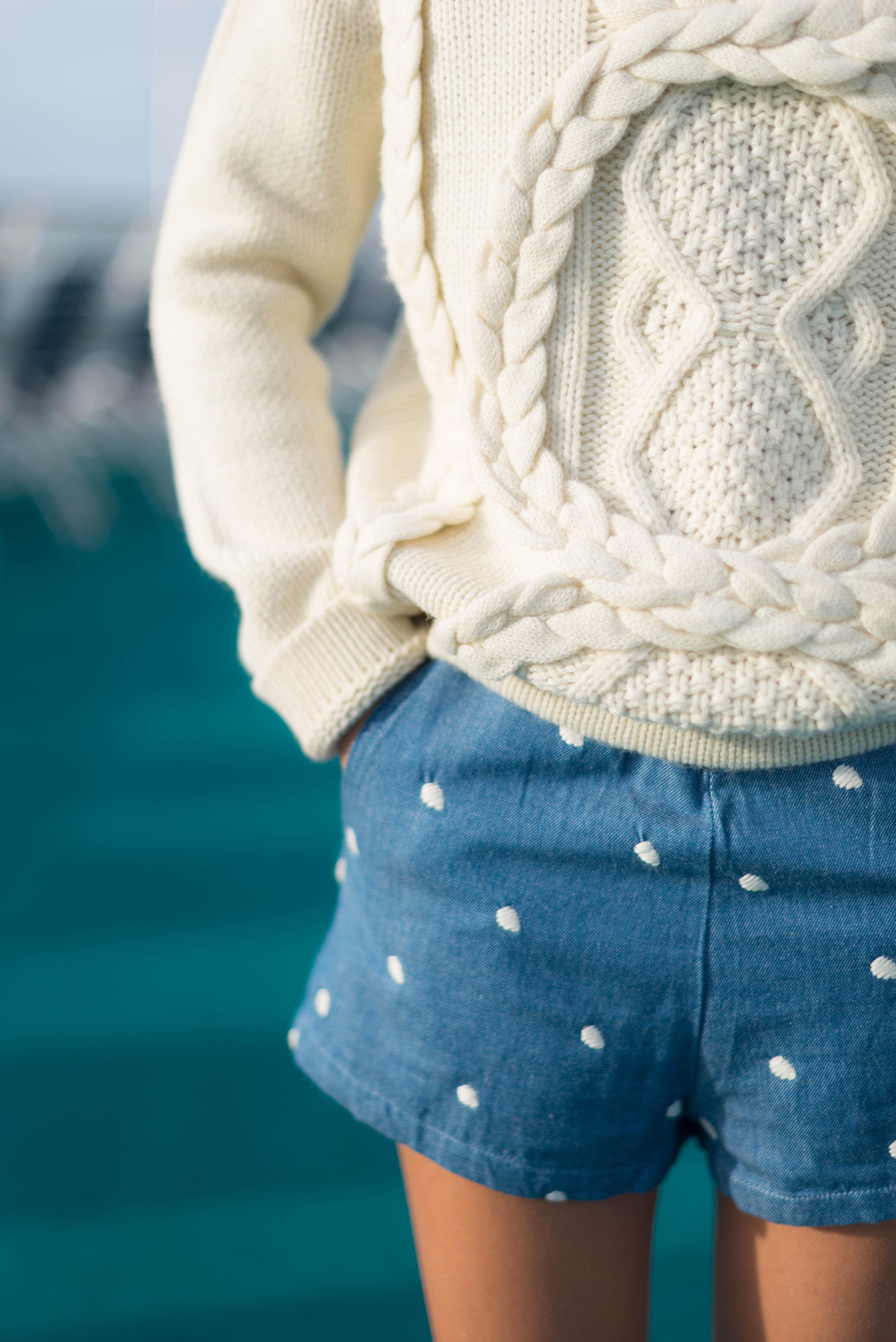 Look short à pois et gros pull | SP4NK BLOG