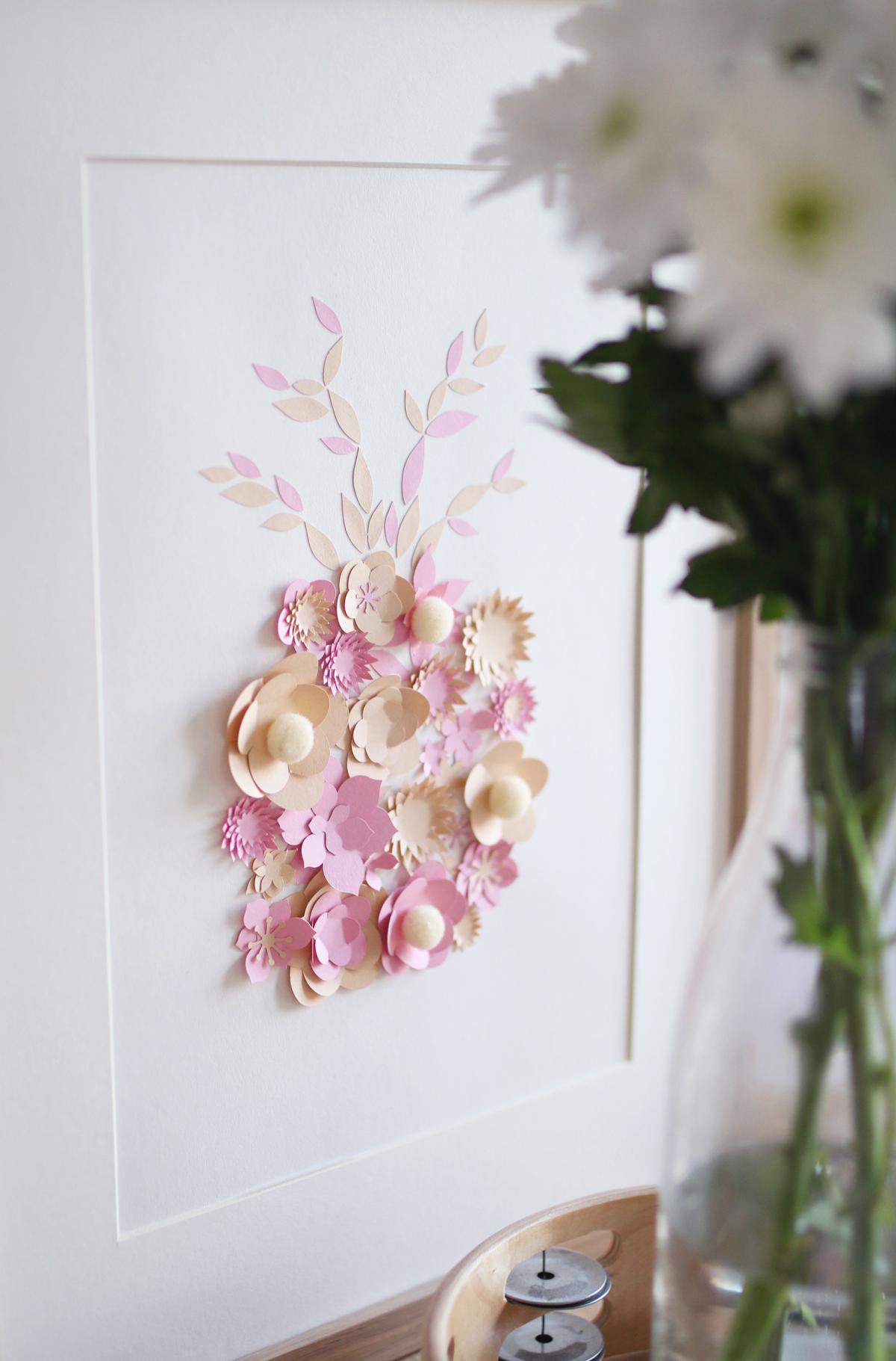 tableau ananas fleuri diy