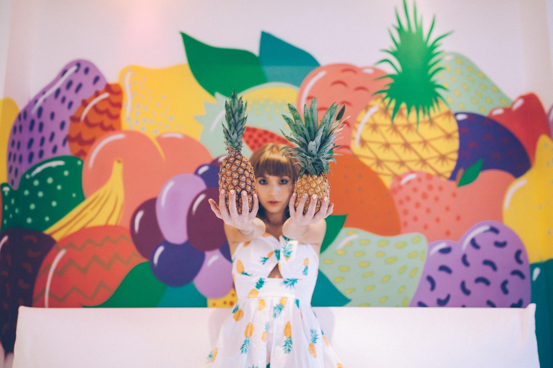 Ananas et fresque fruitée