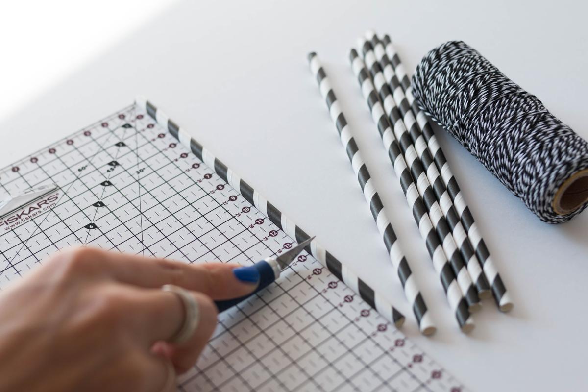 Himmeli DIY Couper les pailles | SP4NK BLOG