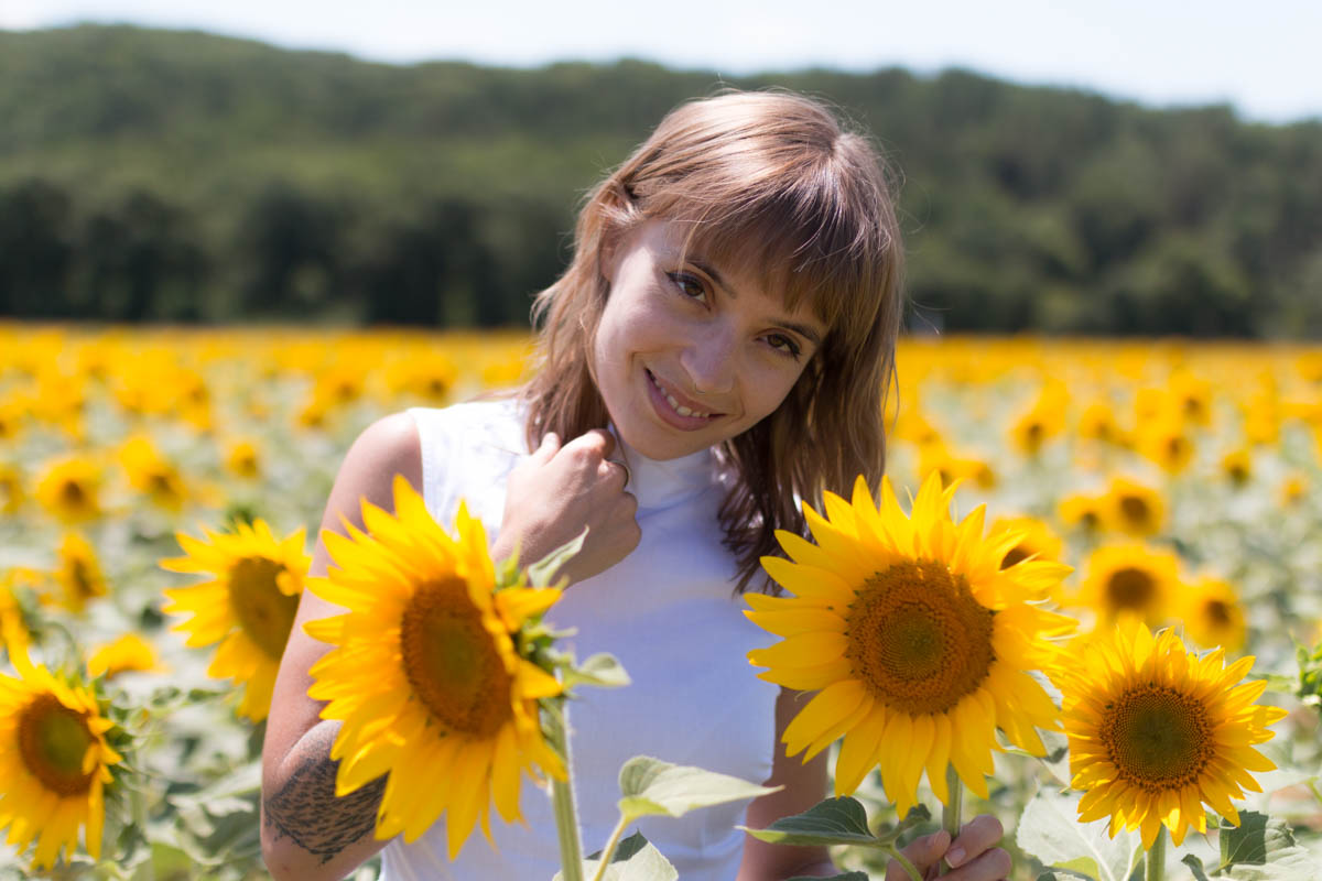 White dress in the sunflowers 2 | SP4NK BLOG