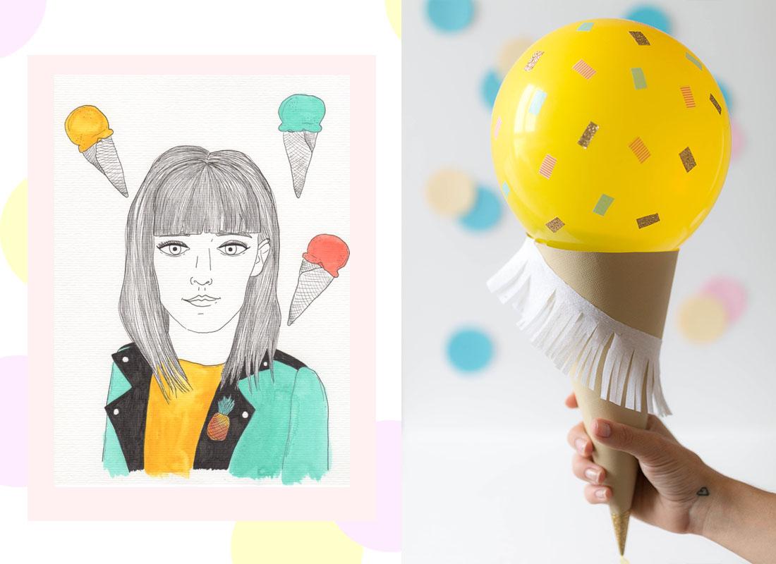 atelier ballon glace diy