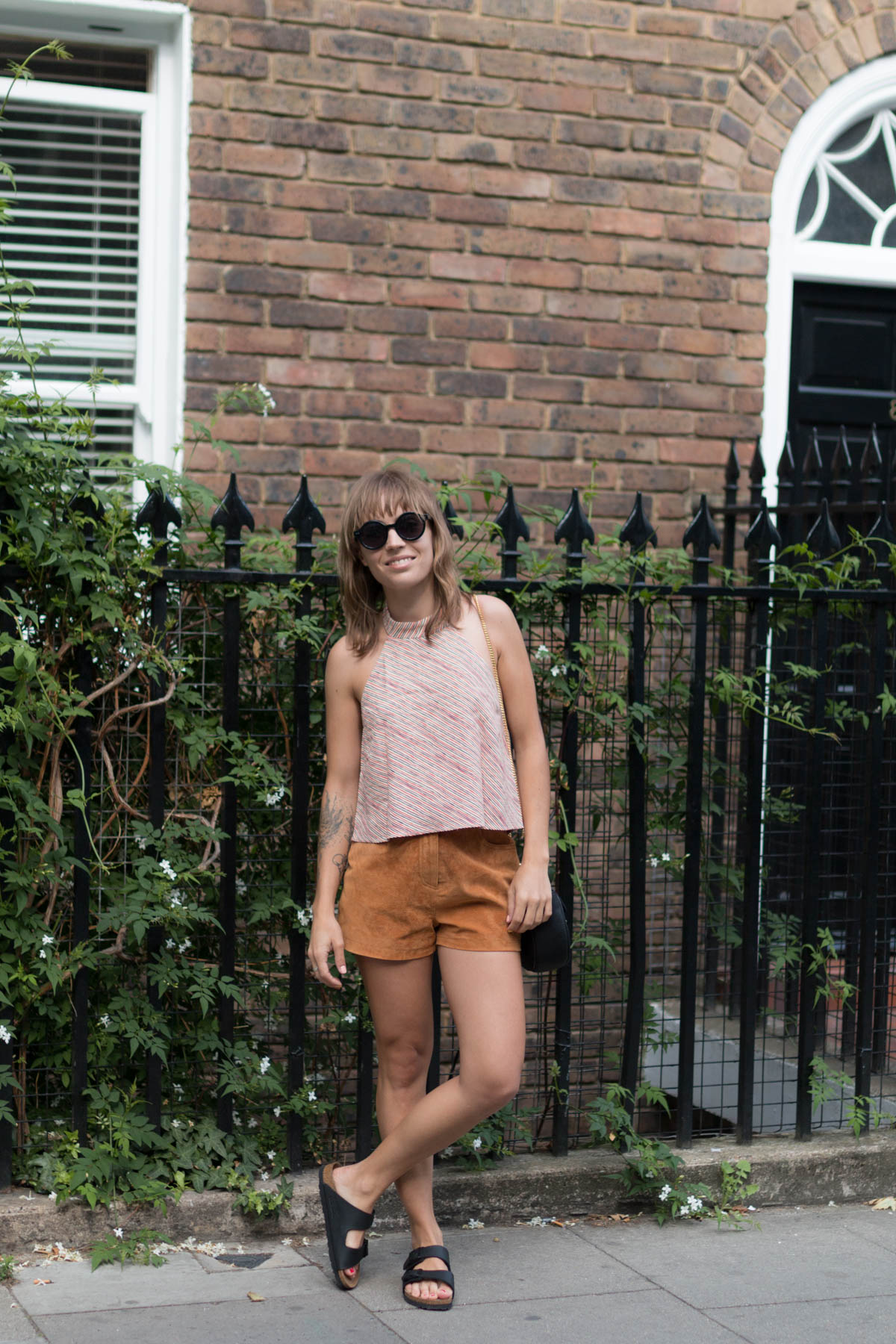 Look top rayé et short en daim 2 | SP4NK BLOG