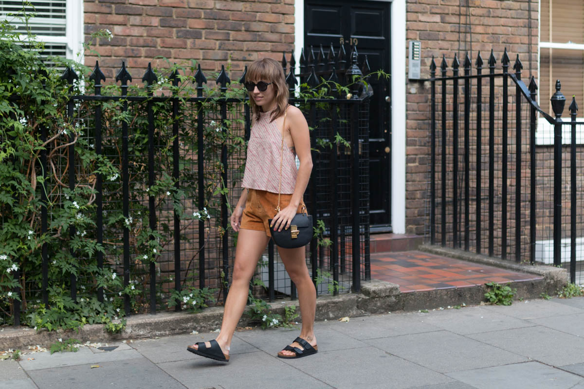 Look top rayé et short en daim | SP4NK BLOG