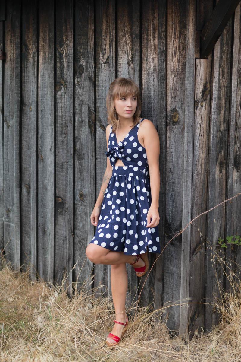 Petit look d'été robe à pois | SP4NK BLOG-2