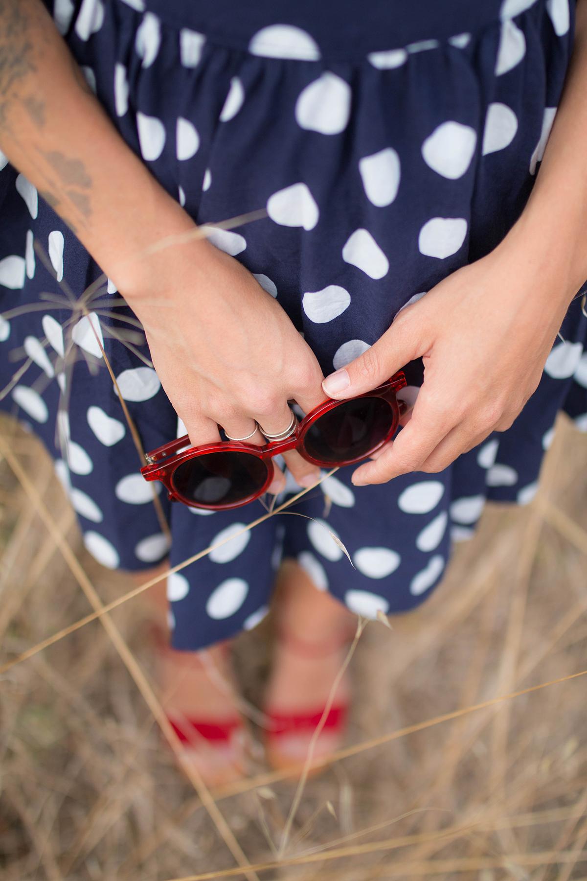 Petit look d'été robe à pois | SP4NK BLOG-4