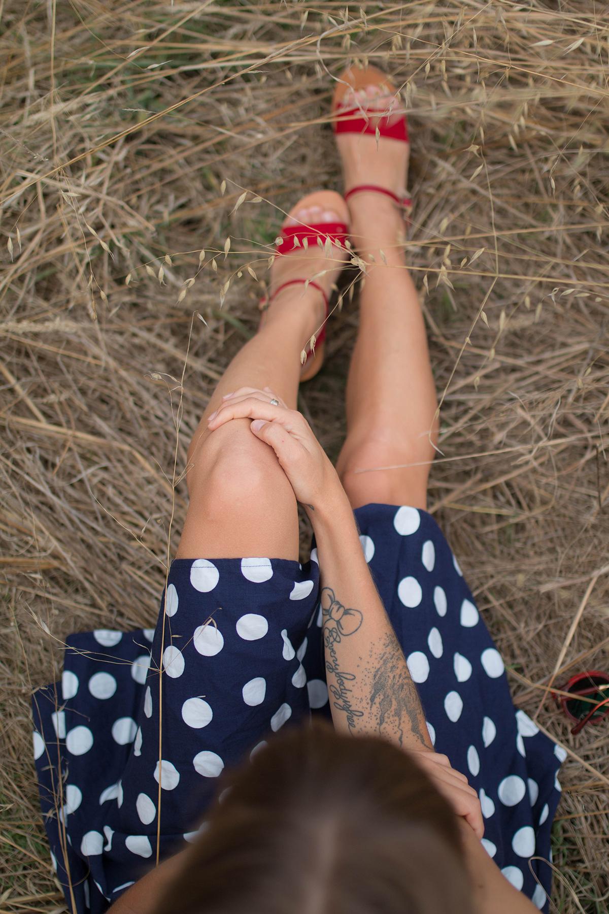 Petit look d'été robe à pois | SP4NK BLOG-5