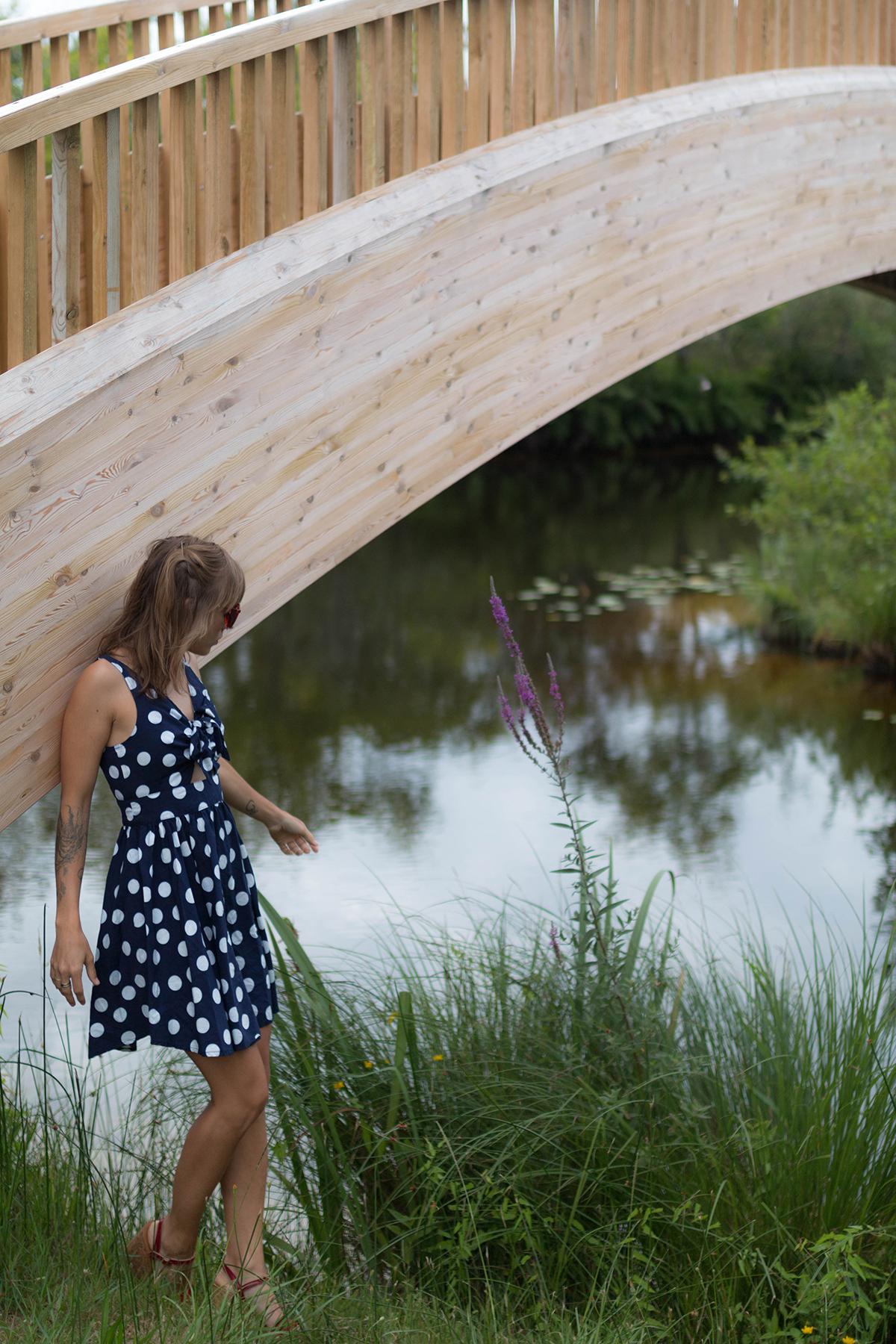 Petit look d'été robe à pois | SP4NK BLOG-7