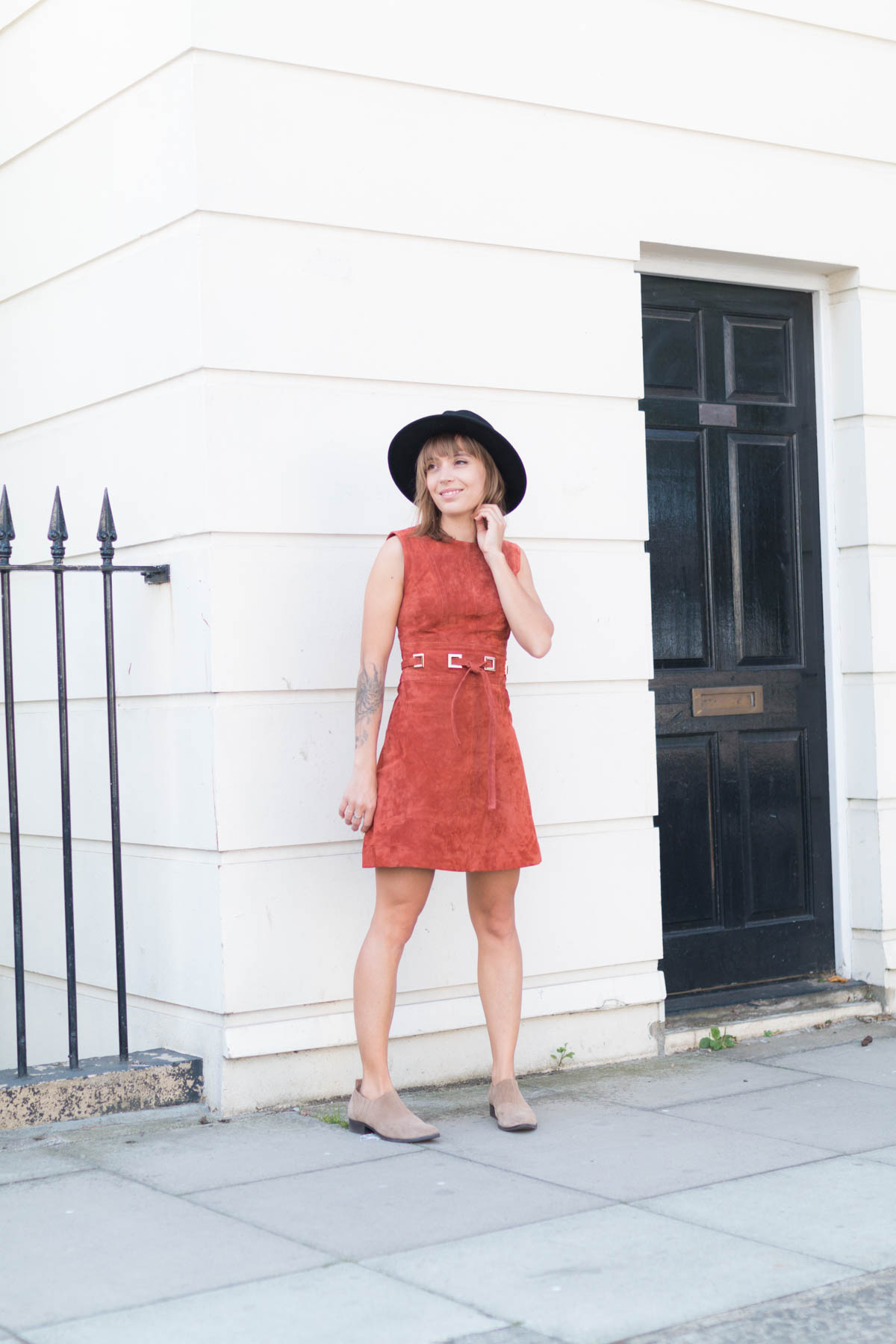 Robe en daim camel et bottine 2 | SP4NK BLOG