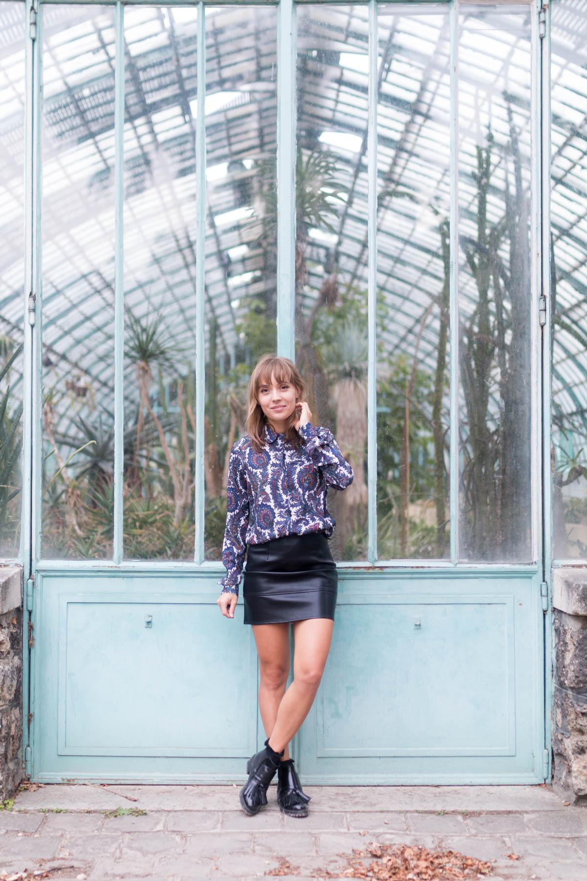 11 Look de rentrée Chemise paisley, jupe en simili et bottines à franges | SP4NK BLOG
