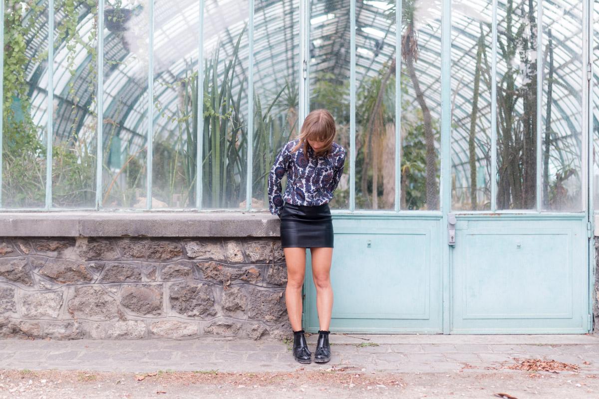 16 Look de rentrée Chemise paisley, jupe en simili et bottines à franges | SP4NK BLOG-7