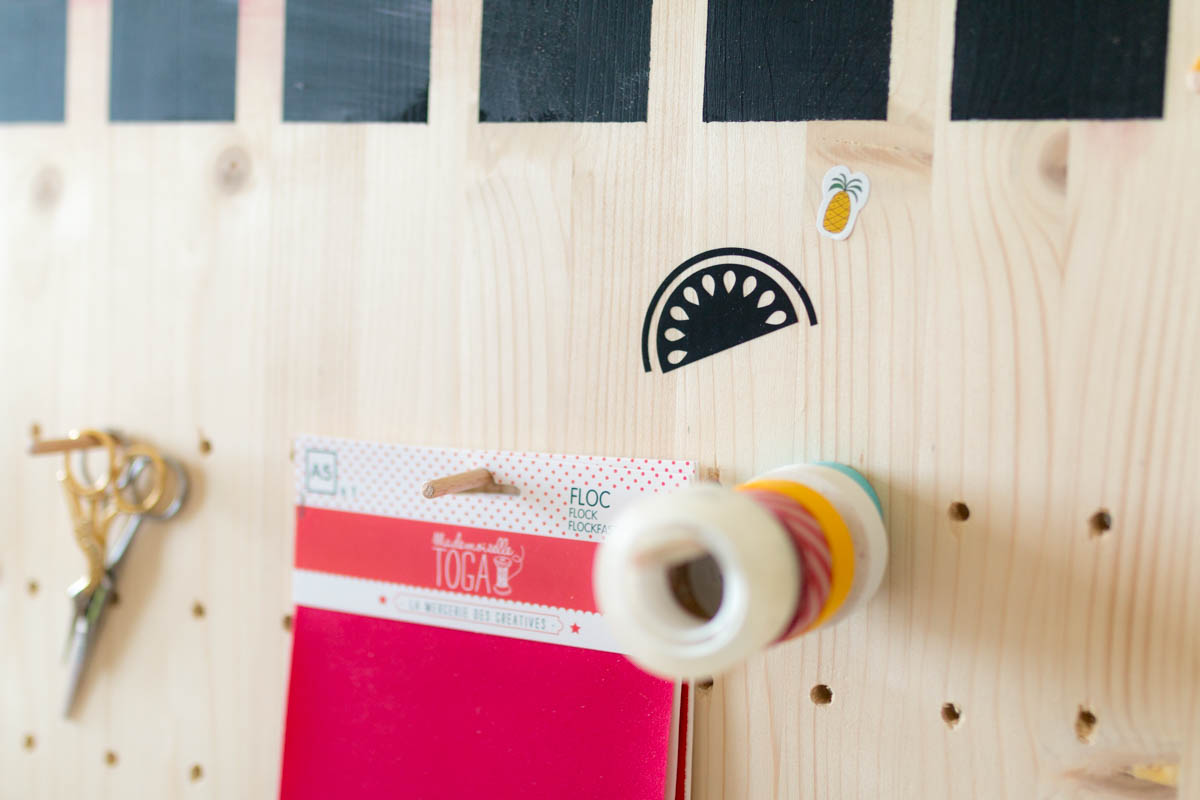 DIY pegboard pour bureau 5 | SP4NK BLOG