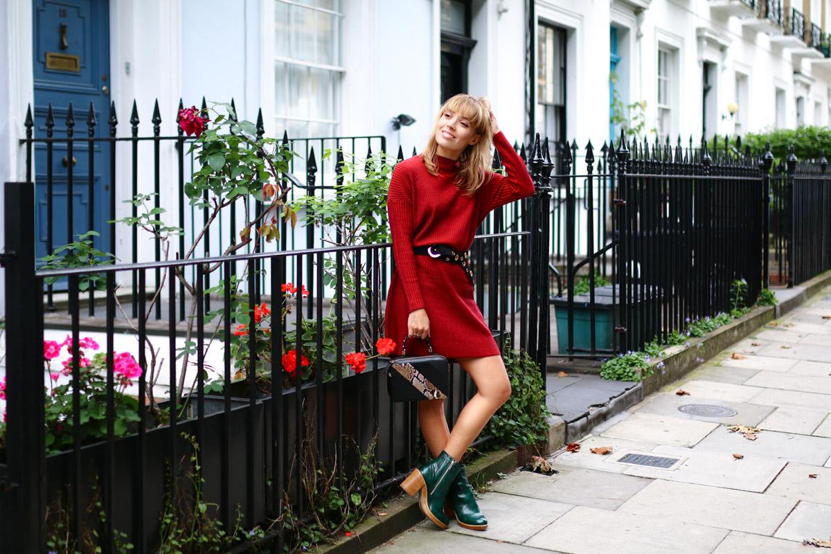 Robe pull rouge et details python I Sp4nkblog-2