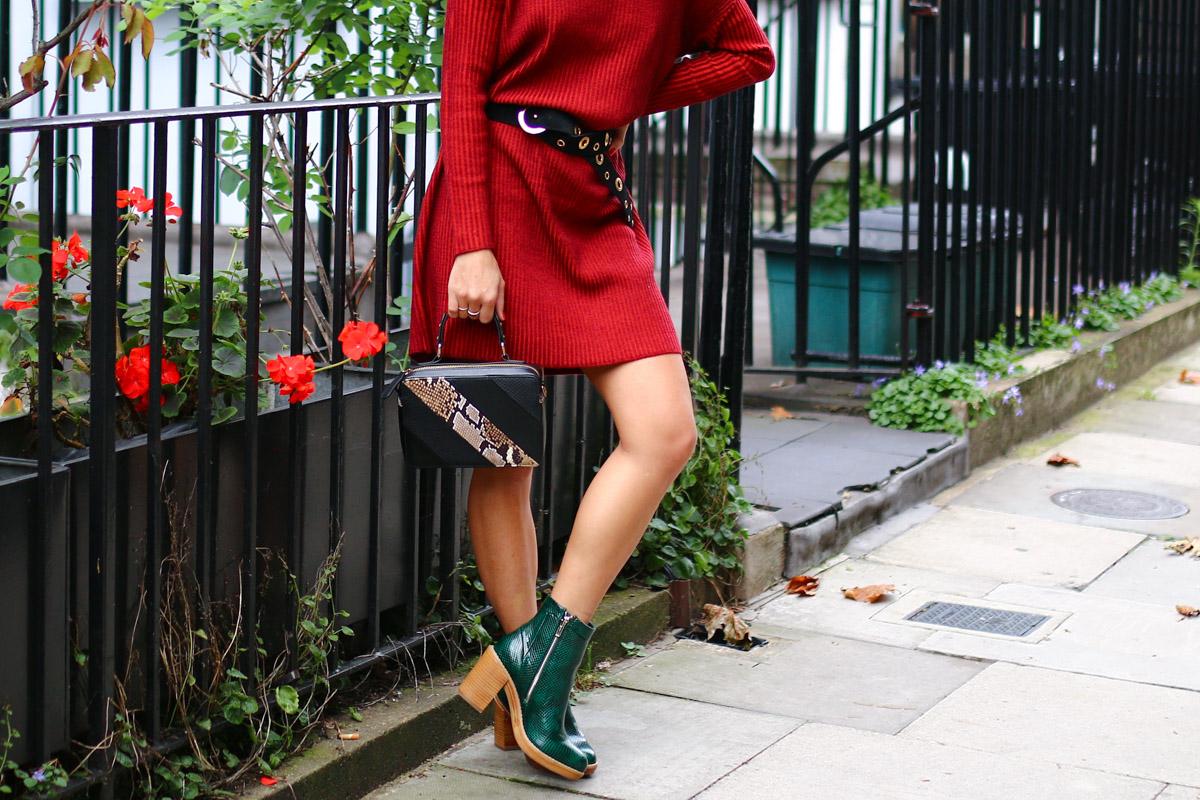 Robe pull rouge et details python I Sp4nkblog-6