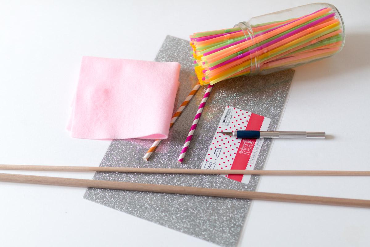 DIY drapeau en feutrine materiel I Sp4nkblog