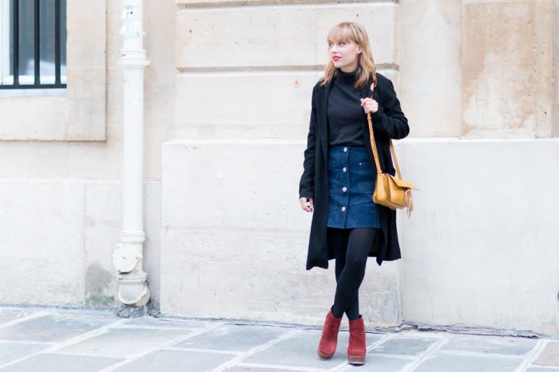 Look Paris jupe en daim et pull col roulé I Sp4nkblog-11