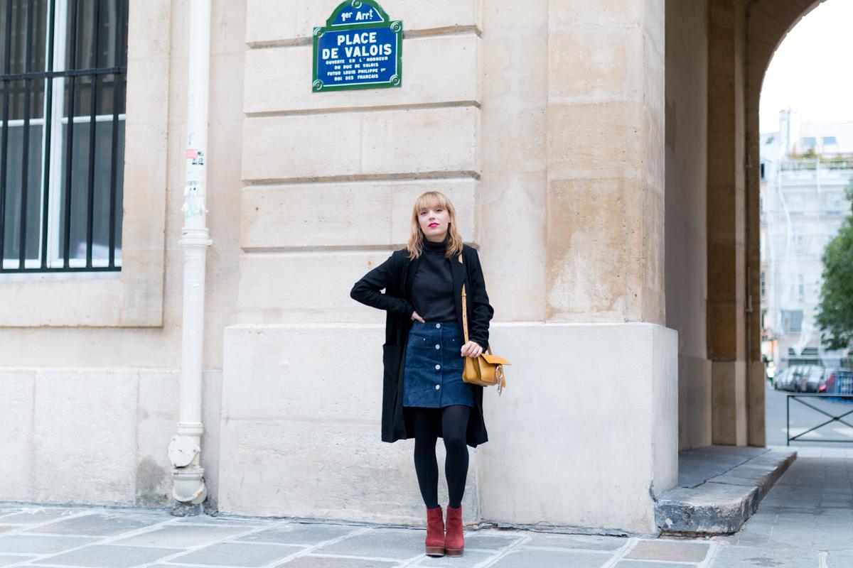Look Paris jupe en daim et pull col roulé  I Sp4nkblog-12