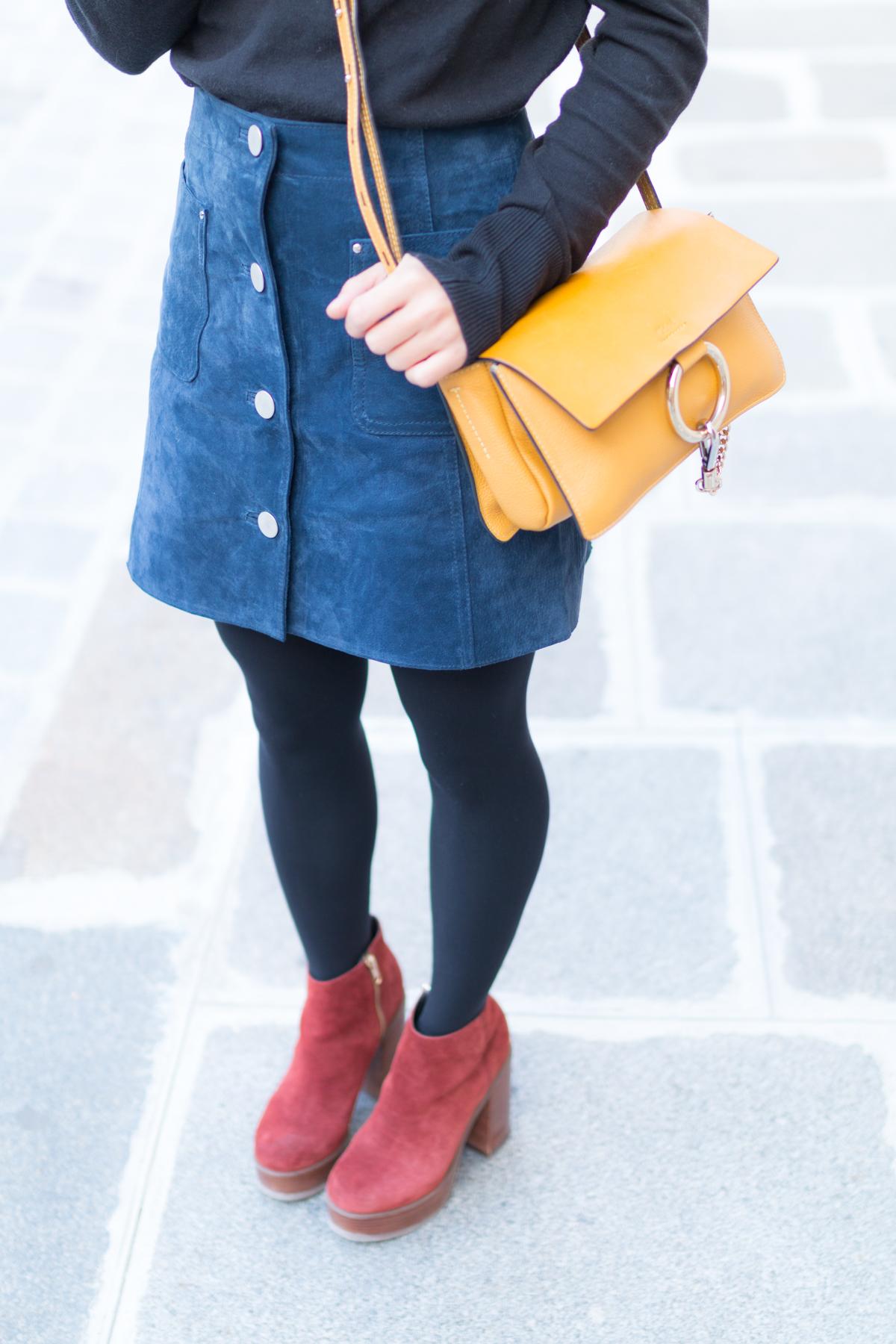 Look Paris jupe en daim et pull col roulé  I Sp4nkblog-20