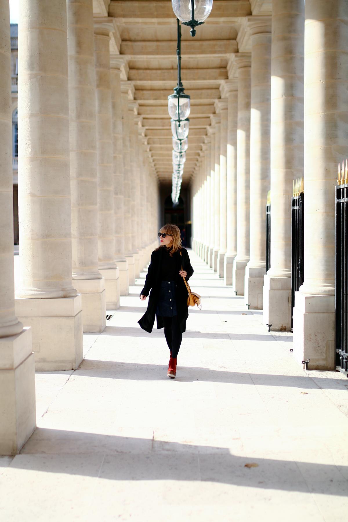 Look Paris jupe en daim et pull col roulé  I Sp4nkblog-4