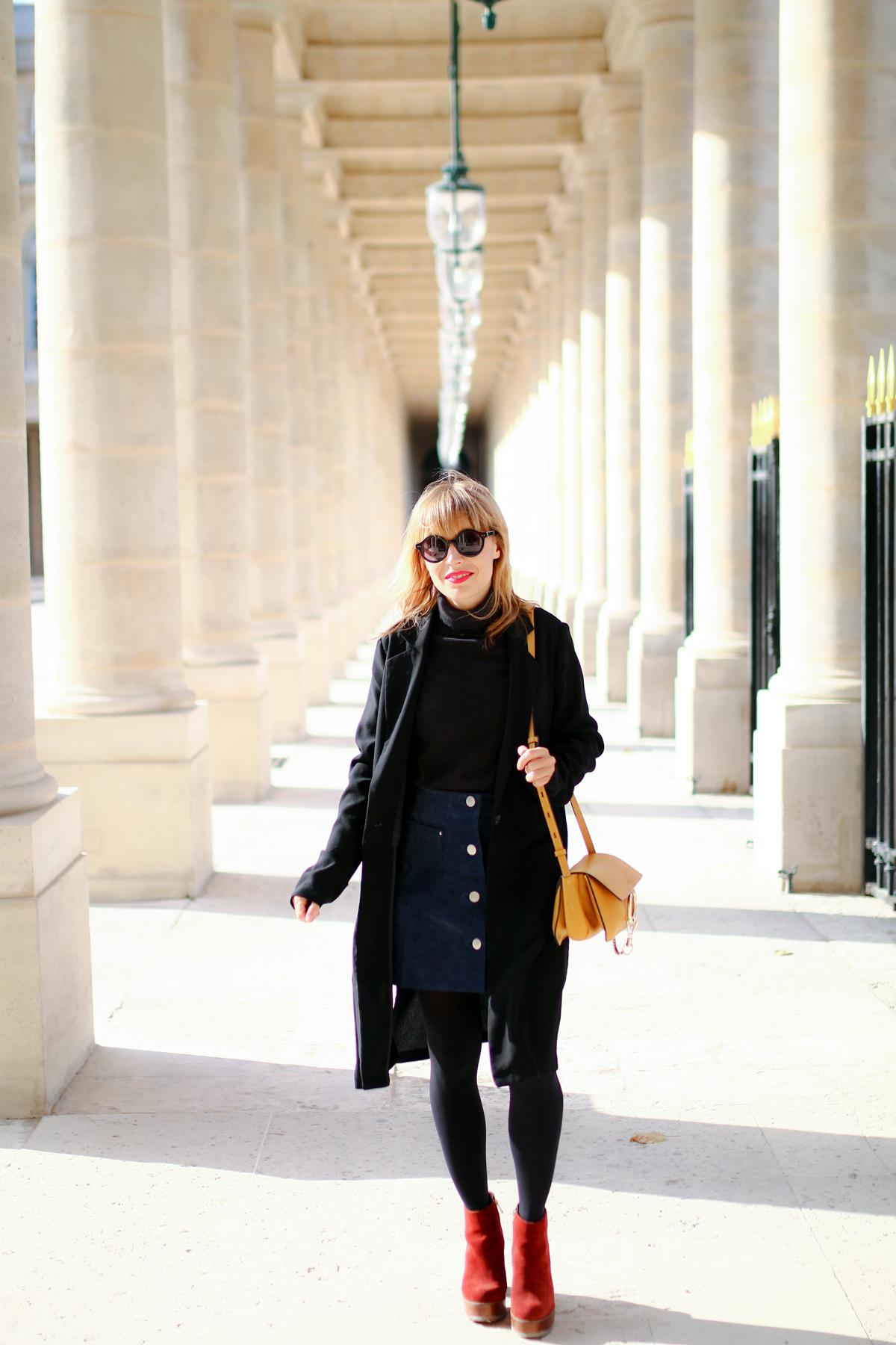 Look Paris jupe en daim et pull col roulé  I Sp4nkblog-6
