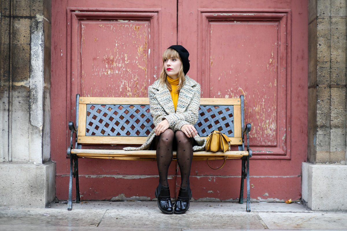 Look sixties béret et jupe trapèze I Sp4nkblog-11
