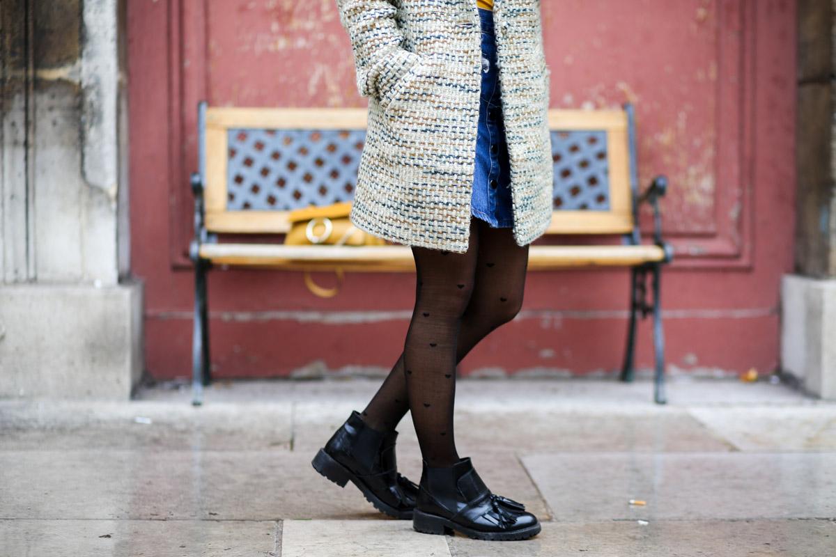 Look sixties béret et jupe trapèze I Sp4nkblog-18