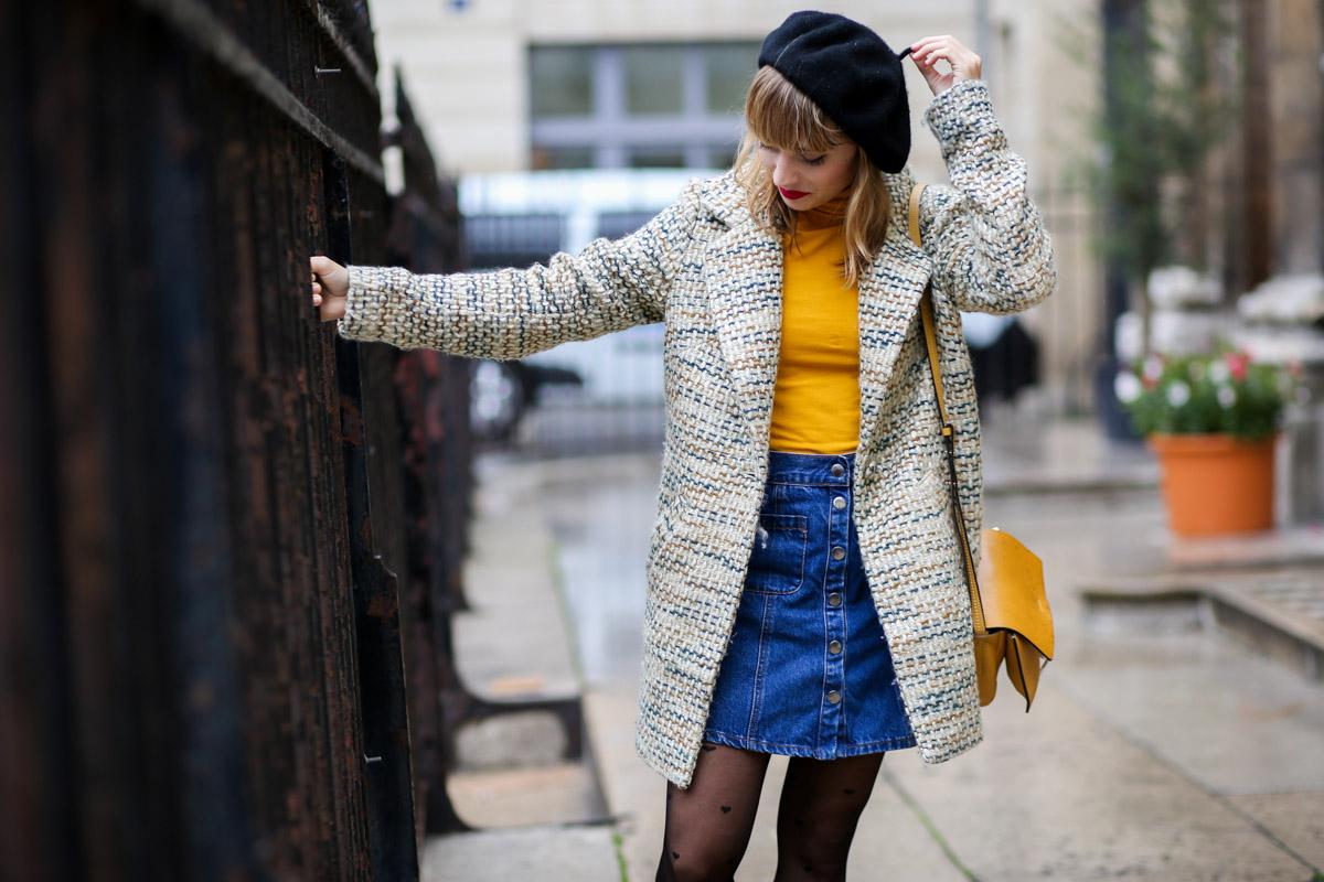 Look sixties béret et jupe trapèze I Sp4nkblog-19