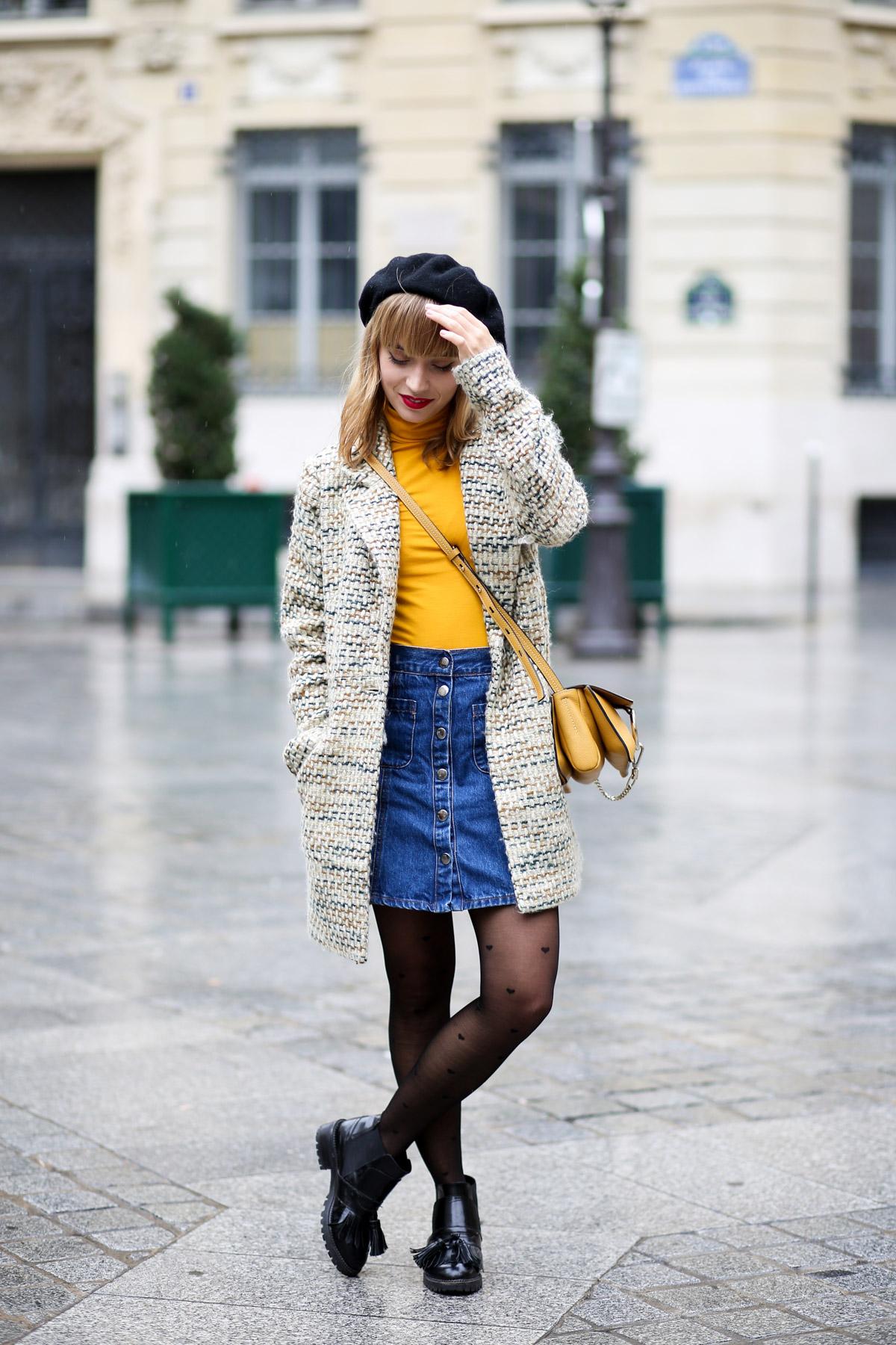 Look sixties béret et jupe trapèze I Sp4nkblog-2
