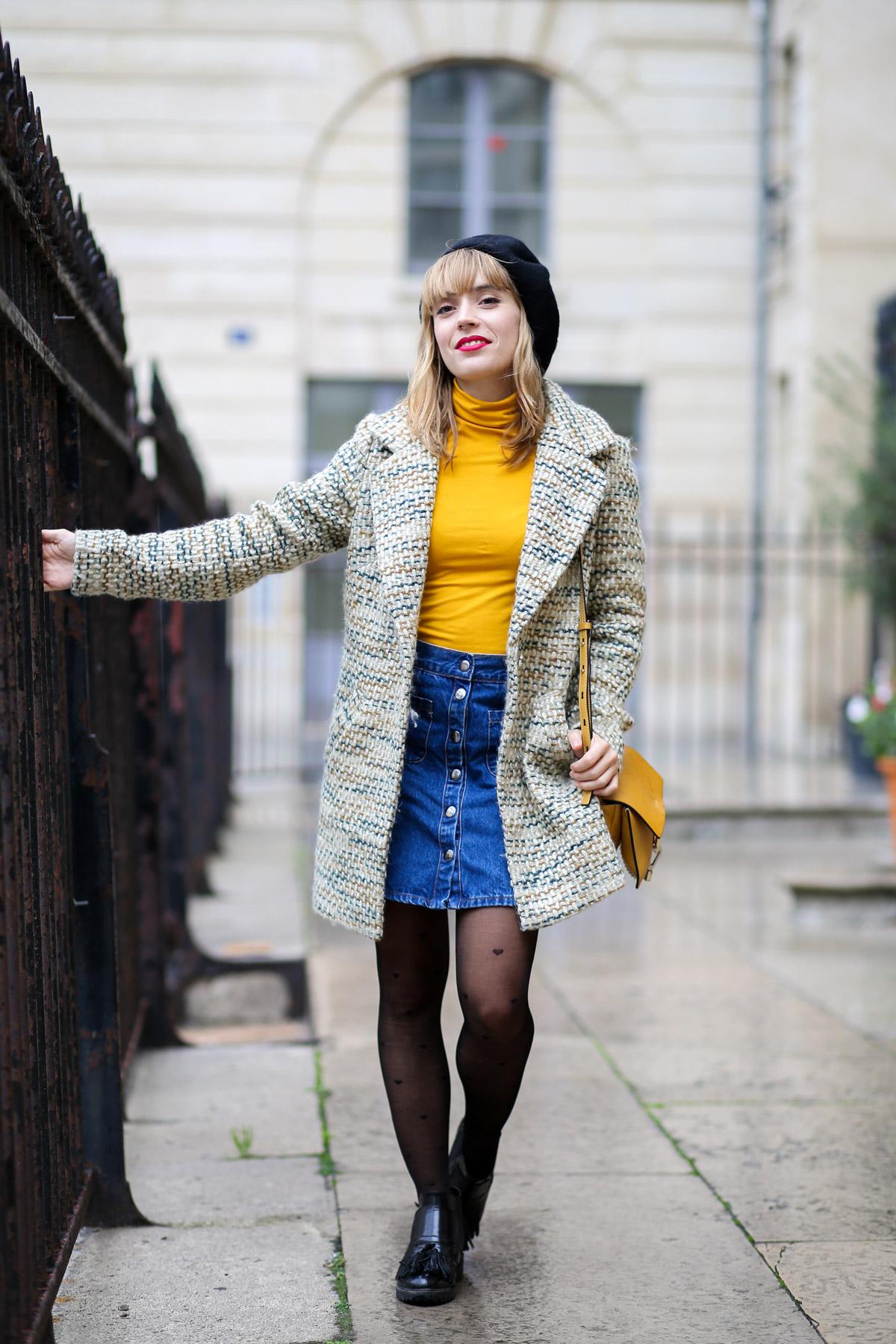 Look sixties béret et jupe trapèze I Sp4nkblog-20