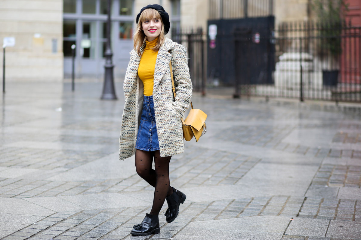 Look sixties béret et jupe trapèze I Sp4nkblog-6