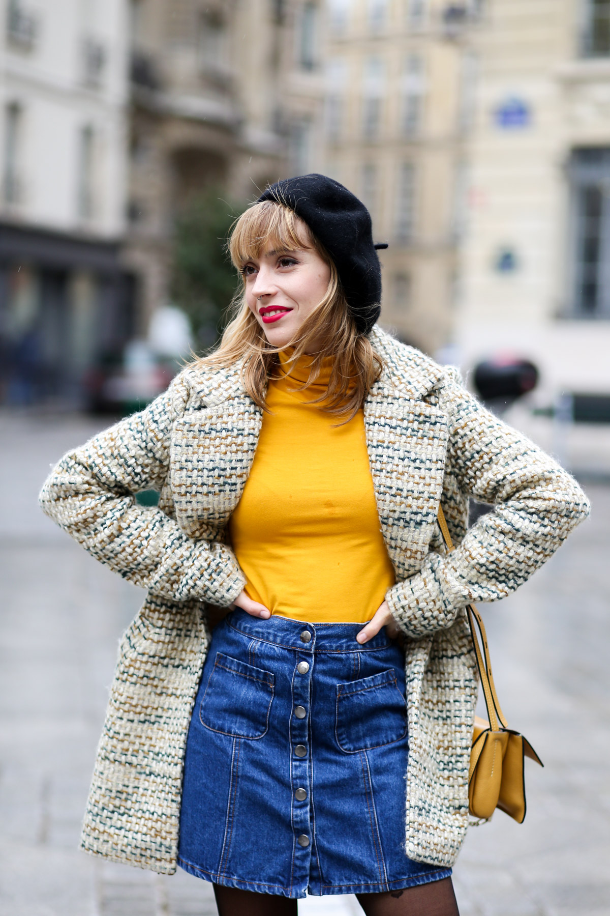 Look sixties béret et jupe trapèze I Sp4nkblog-8