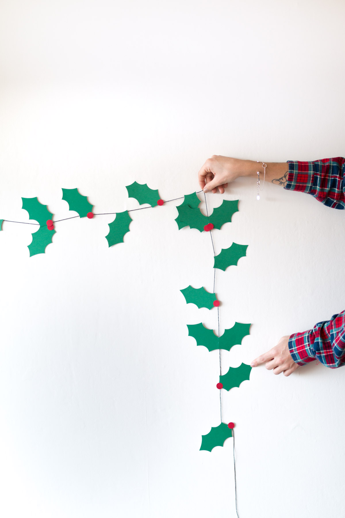 Holly garland DIY  I Sp4nkblog-19