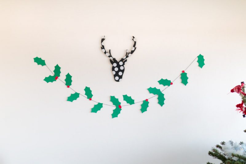 Holly garland DIY I Sp4nkblog-20
