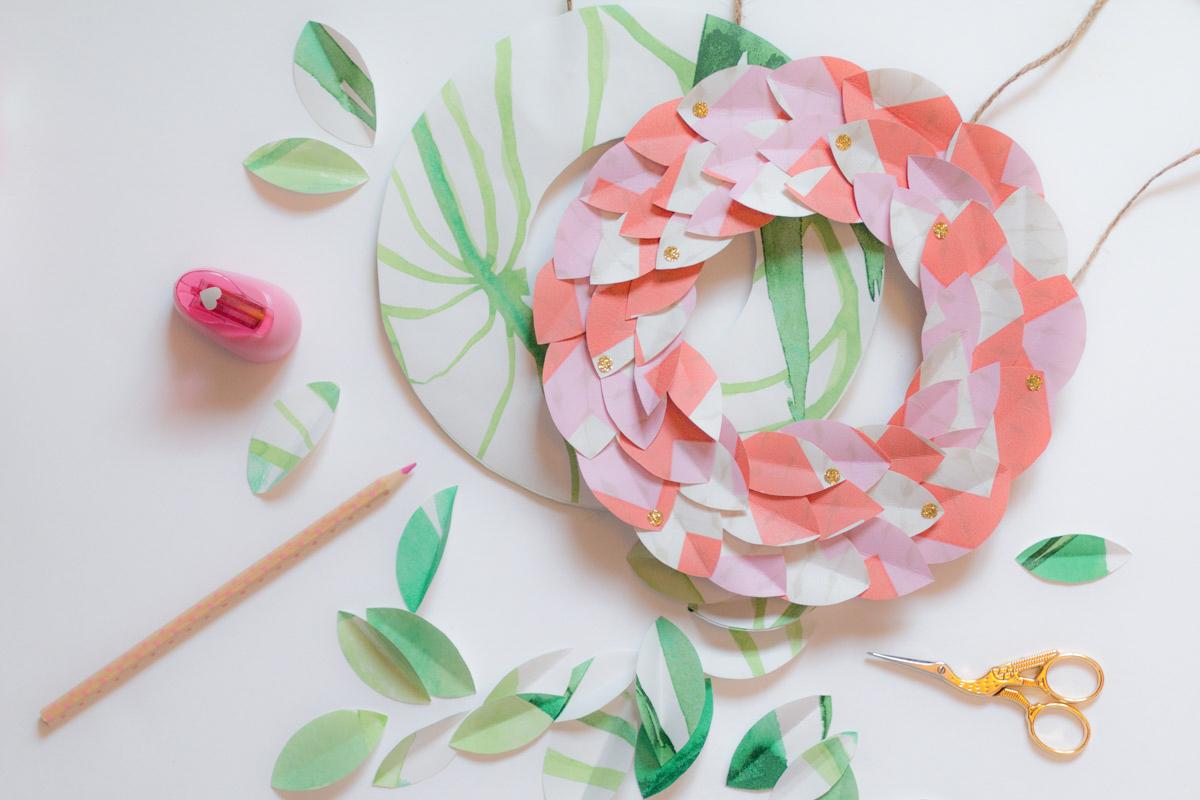 DIY Couronne en papier peint I Sp4nkblog