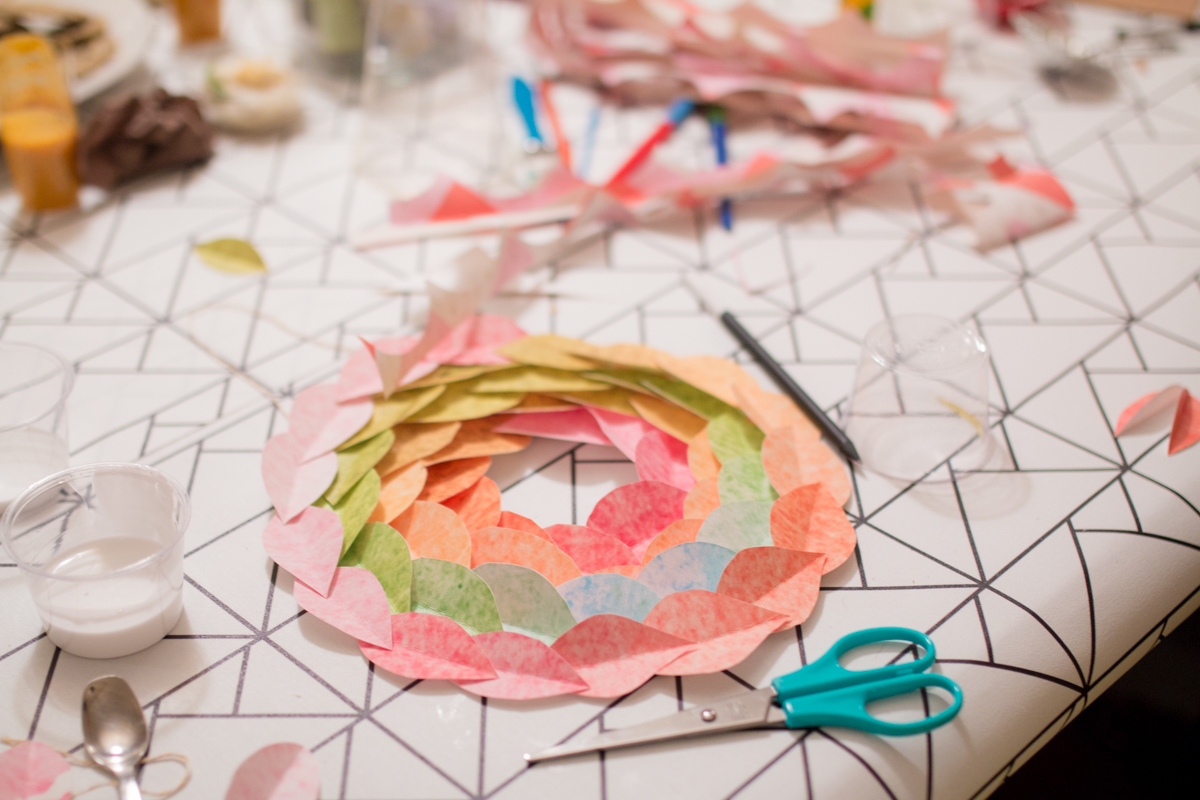 DIY Paper wreath Couronne en papier I Sp4nkblog-7