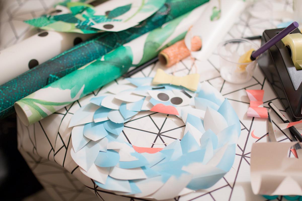 DIY Paper wreath Couronne en papier I Sp4nkblog-8